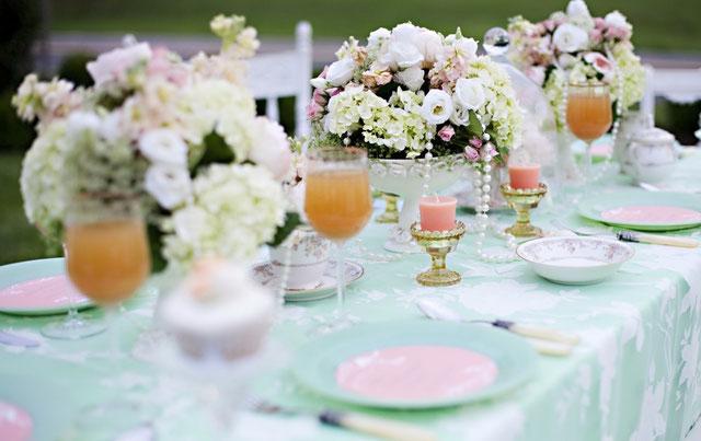 flores para mesa de boda