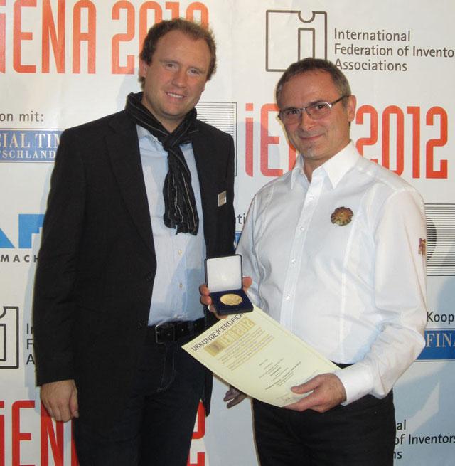 Hadaco - Goldmedaille Erfindermesse Nürnberg iENA 2012