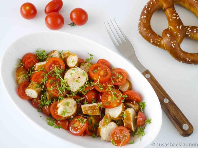 Tomaten-Brezel-Salat