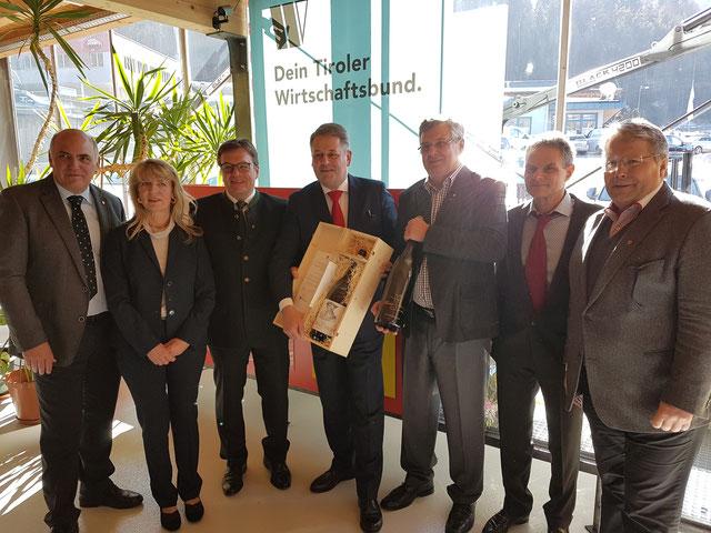 WB Hannes Staggl, Bubik Helga, LH Platter, BM Rupprechter, WB Prantauer Anton, Bubik Kurt, Franz Hörl