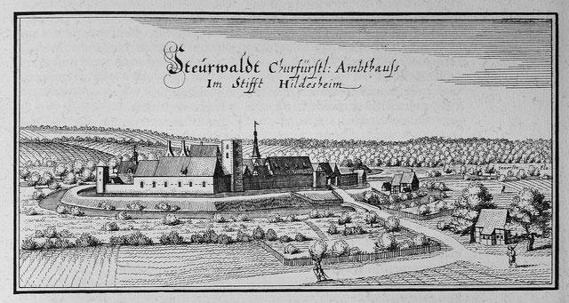 Burg Steuerwald um 1650