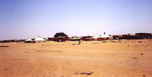 Barrio de una de las Wilayas donde habitan las personas residentes en el desierto de Western sahara