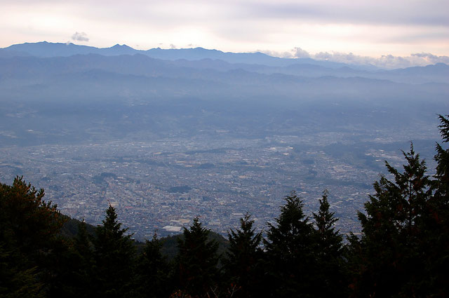 風越山展望台からの眺め