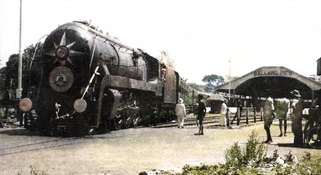 The Punjab Mail train at Ballard Pier in Bombay ( Mumbai ).
