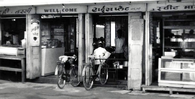 Satchapir Tea Shop in Poona. Meher Baba's Father's 2nd tea shop. Photo taken in 1976 - Courtesy of John Connor
