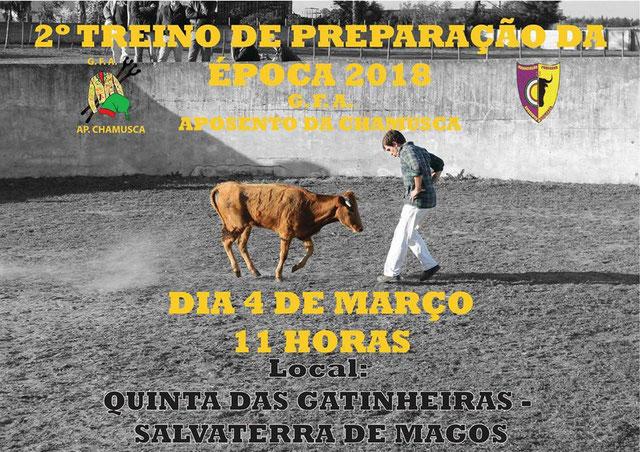 2º Treino da temporada Ganadaria João Ramalho , Quinta das Gatinheiras 4 de Março - Salvaterra de Magos.