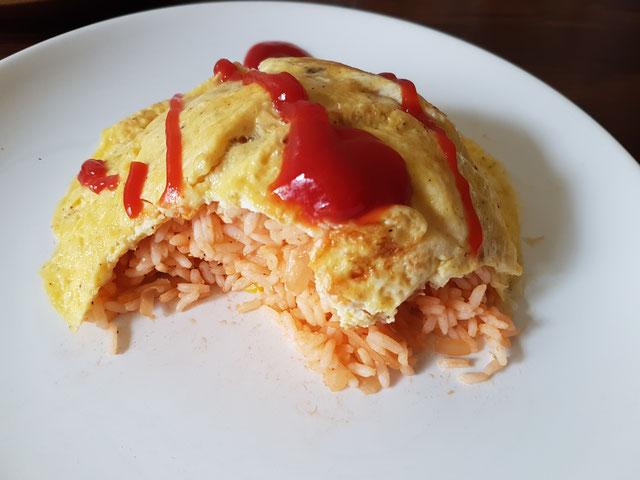 Omurice japonais riz sauté japonais omelette japonaise