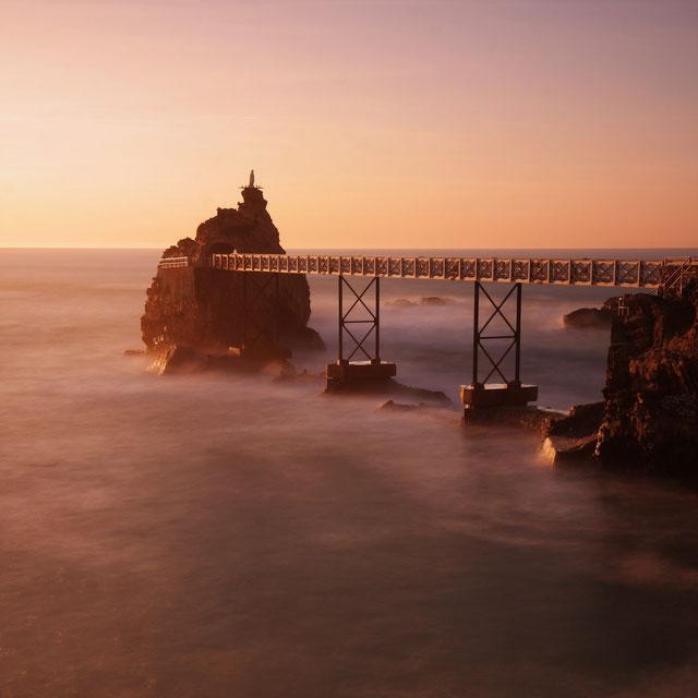 superbe coucher de soleil sur Biarritz
