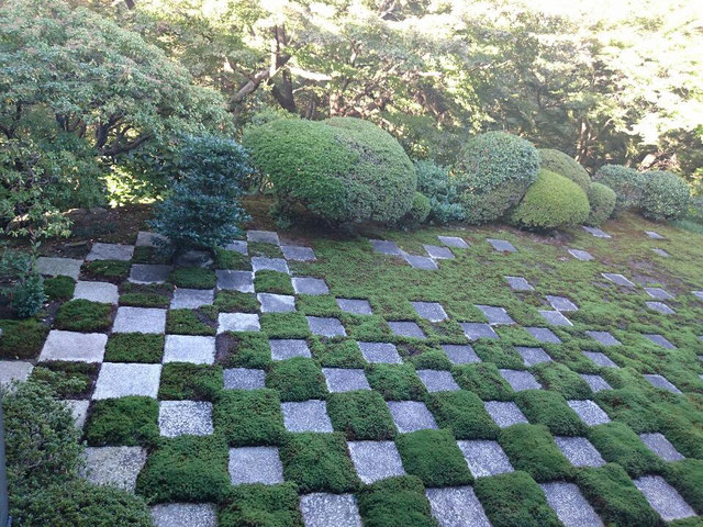 東福寺方丈 小市松模様の庭園