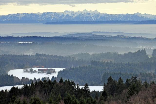 Blick von Kahlberg nach Süden ...