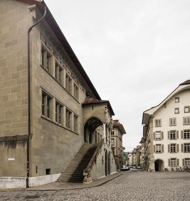 Rathaus, Blick in die Postgasse, Datum und Apparat wie oben.