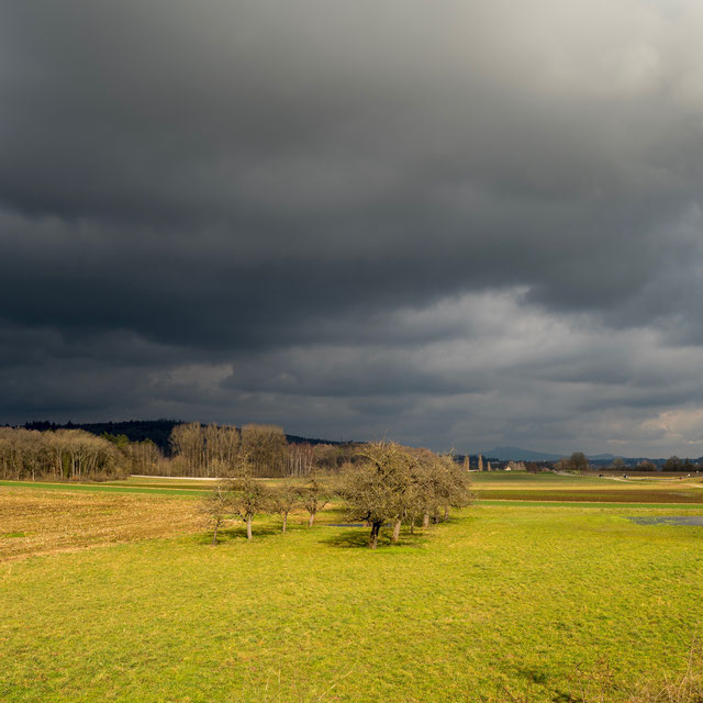 Ortsende Ost, Blick gen Neuhausen am Rheinfall.