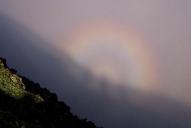 北岳への登りで現れたブロッケン