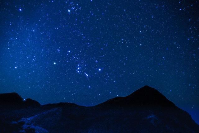 オリオン座と久住山