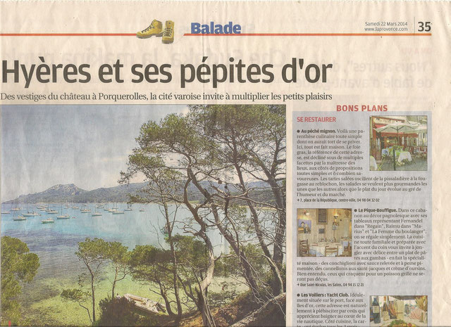 article La Provence 22 mars 2014