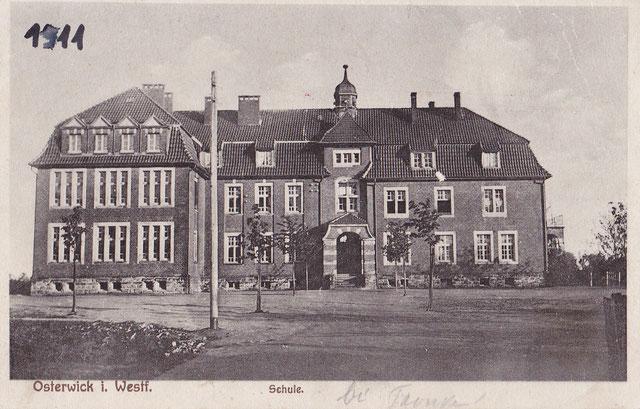 Der Neubau der Osterwicker Schule im Jahr 1911