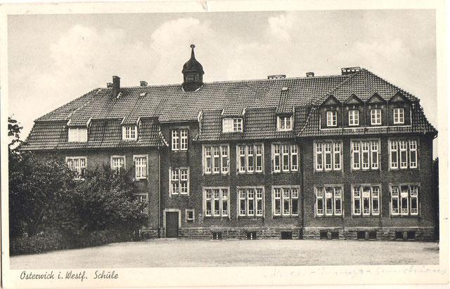 Postkarte Schule Südansicht