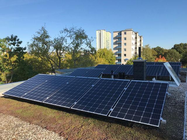 Neu gebaute Wohnungen mit Solarstromerzeugung