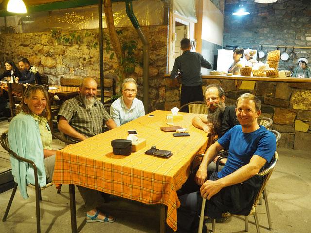 Rita, Guido, Daniel, Hans und Ich - gemütlicher Abend in Jerewan