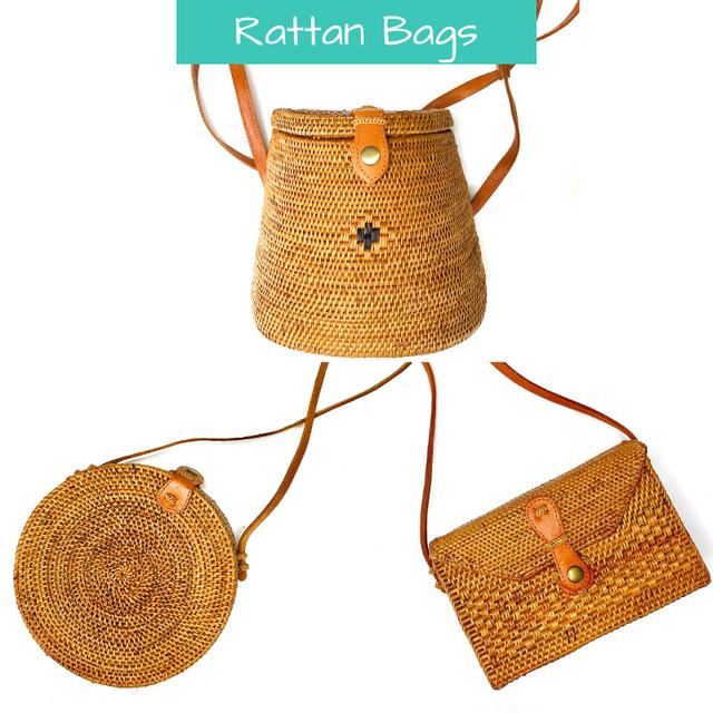 rattan bag | round bag | borsa rotonda | bali bag