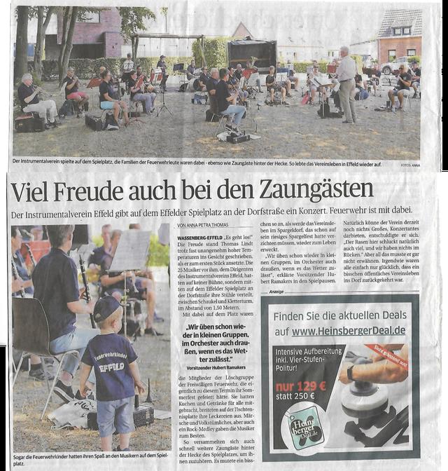 Aachener Zeitung vom 11.8.2020