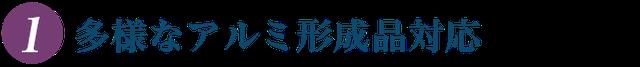 株式会社ケントクの特徴(1)多様なアミル形成品対応