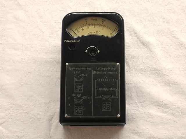 Volt und Leitungsprüfer ( Ohmmeter ) von 1949 Fa. Schoeller und Co. Ffm.