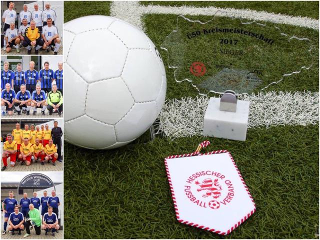 Siegerehrung der Ü-50 Kreismeisterschaft (bei den Fotos fehlt das Team der SG Ohmtal)