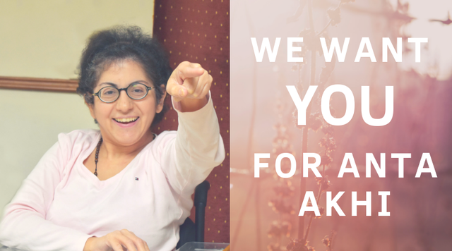 We want you for Anta Akhi-volontaire-Foyer
