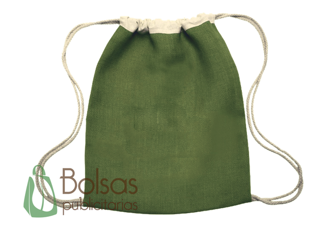 Bagpack de Yute de Algodon