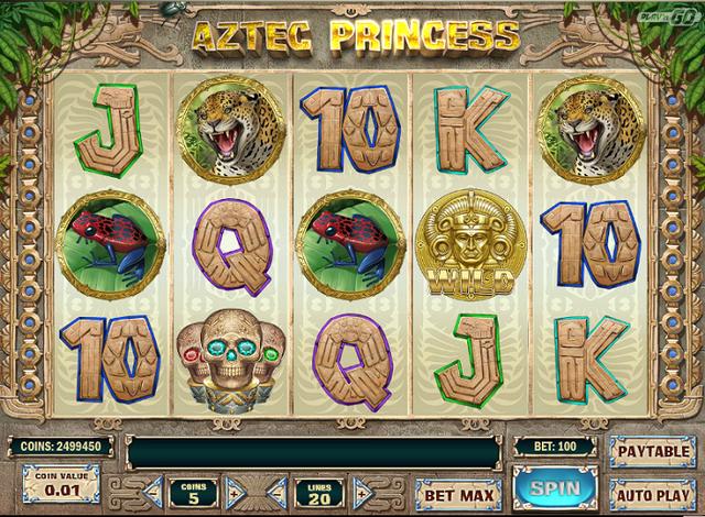 Play'n Go Aztec Princess Slot Oyunu