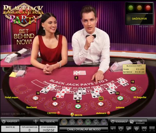 Evolution Party Blackjack