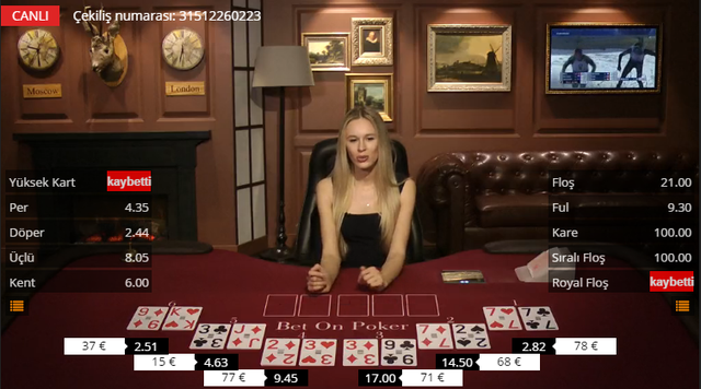 Bet On Games Canlı Poker