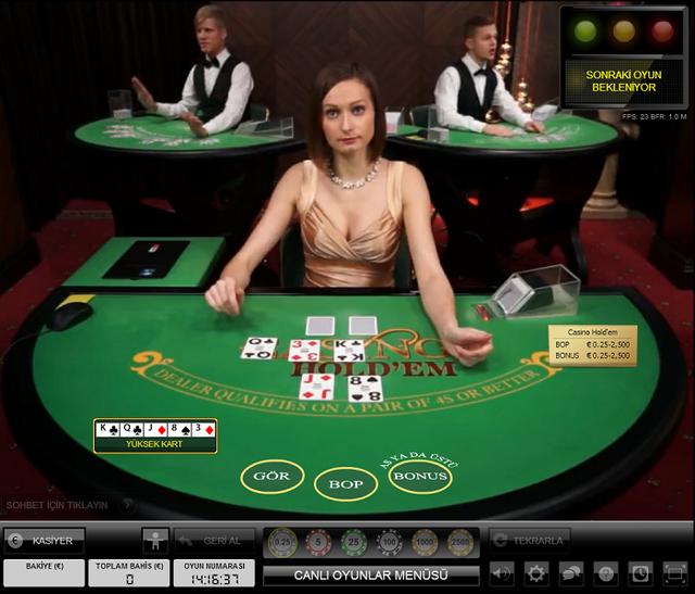 Evolution Canlı Poker