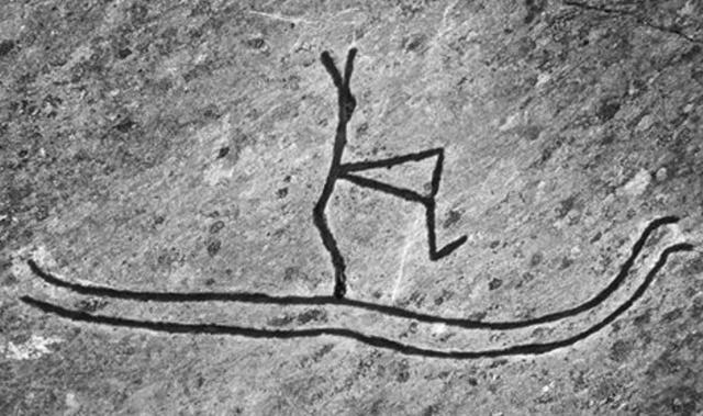 Célèbre peinture rupestre de Rodoy en Norvège