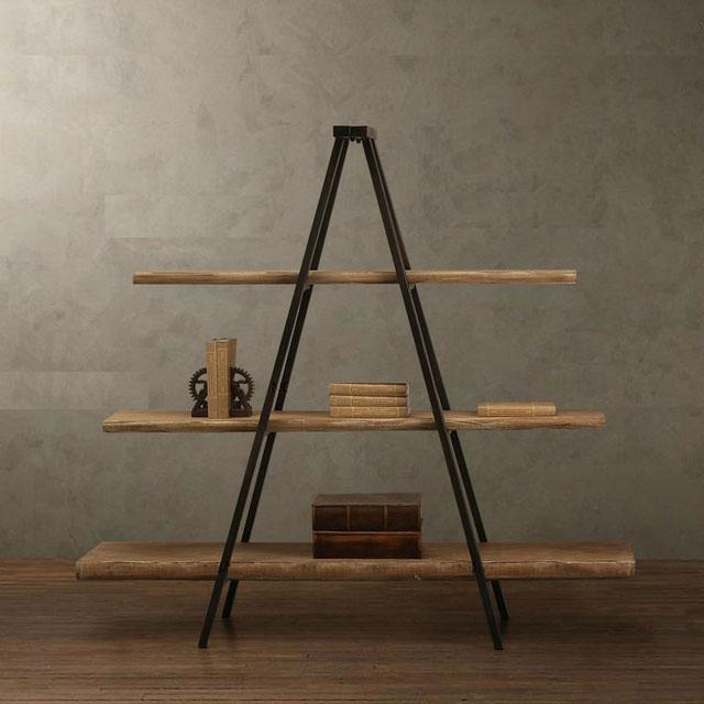 стеллаж деревянный на металлокаркасе