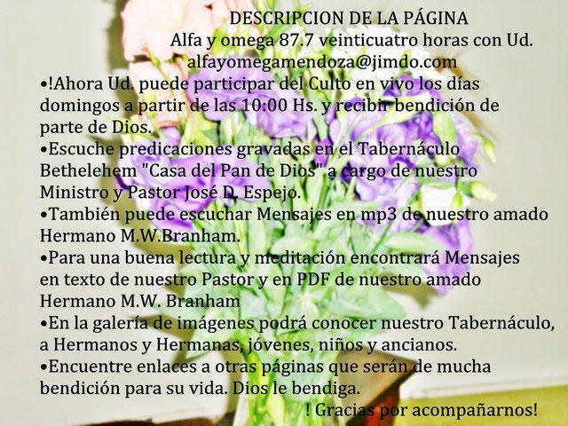 ALFA Y OMEGA 87.7