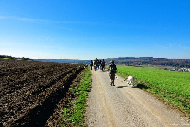 Donnerstags-Wandergruppe unterwegs auf den Elberthöhen