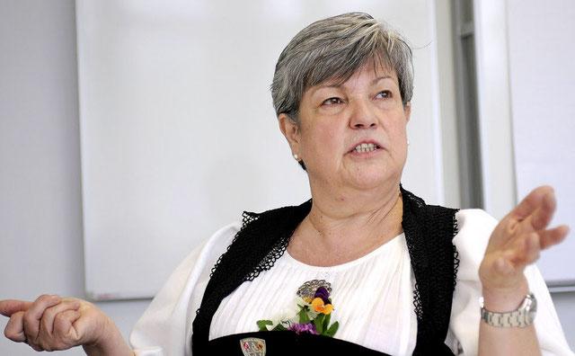 Chantal Bornoz, ehemalige Grossratspräsidentin des Kantons Bern.