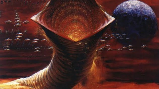 Da kann die Amsel lange dran picken - ein Sandwurm des Wüstenplaneten Arakis.