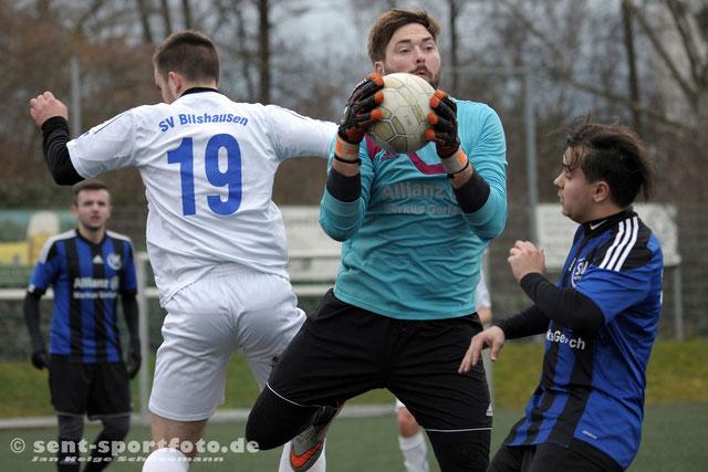 SV Bilshausen testet gegen SV Rotenberg (blau)