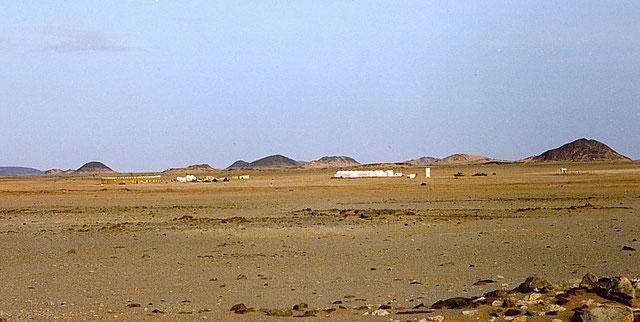 Vista de una zona habitada en el desierto del Sáhara Occidental