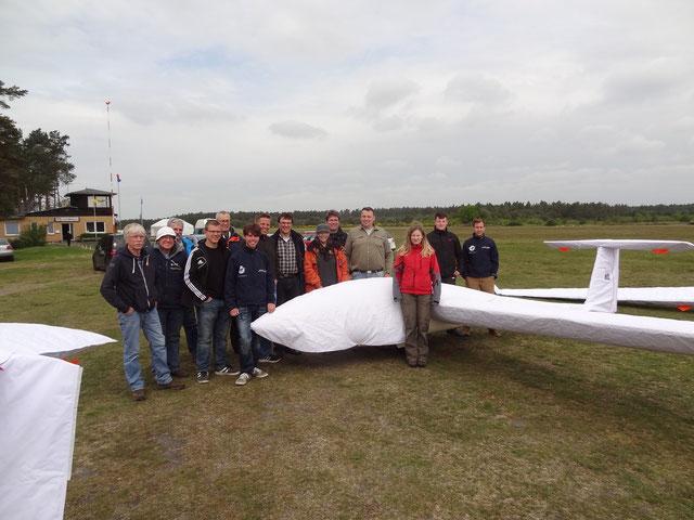Große LSG-Mannschaft beim Vergleichsfliegen