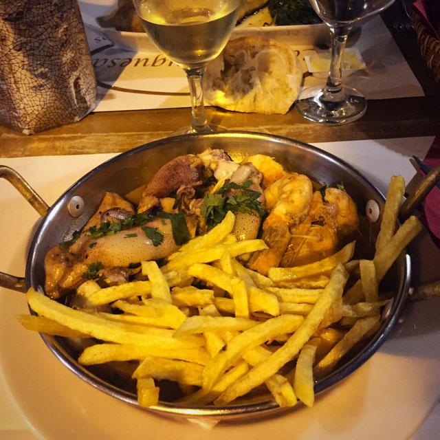 La Casa Portuguesa et ses crevettes/seiches à la bière