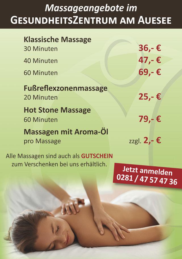 Massage, Wellness, Weihnachtsangebote