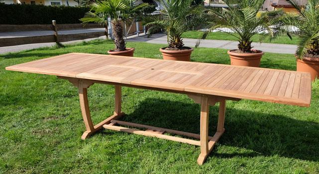 tavolo teak +arredo giardino +estensibile +legno