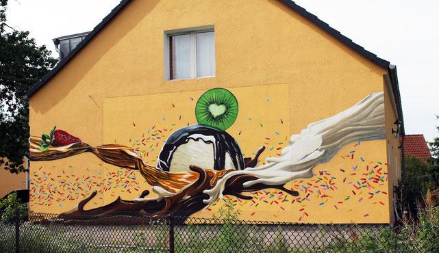 Fassadenmalerei in Brandenburg