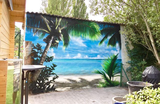 Graffitimalerei karibik