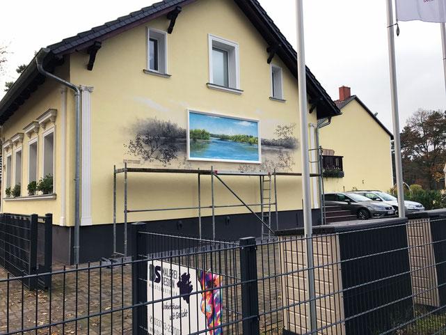 Graffitimalerei in Berlin Bestensee