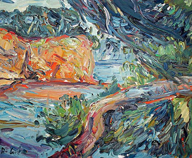 Küste in La Ciotat   1991, Öl auf LW, 46 cm x 55 cm